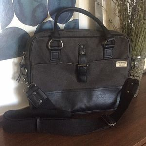 STEVE MADDEN Distressed Crossbody Messenger Bag